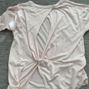 Light Pink Athleta Long Sleeve Top